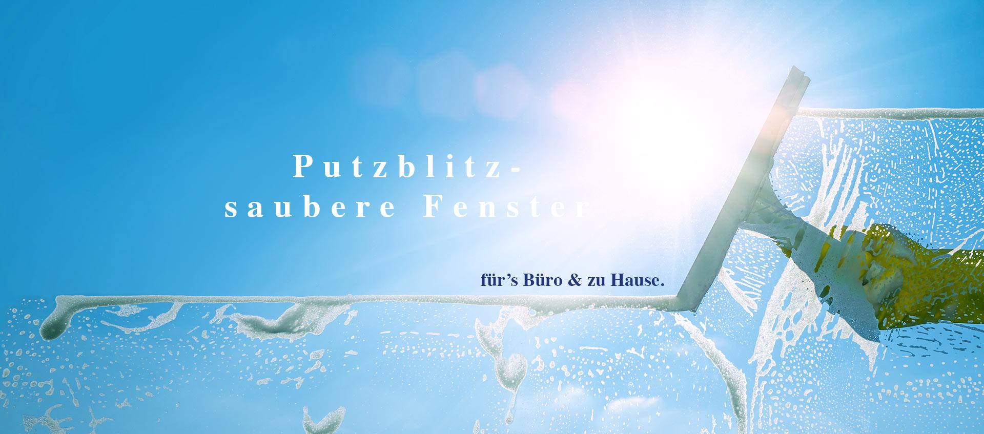 Fensterputzen im Sommer wie von Zauberhand mit PUTZ-BLITZ Raumpflege mit Herz & System